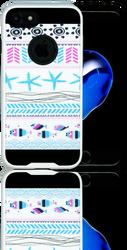 Iphone 7 MM Slim Dura Metal Teal Fish