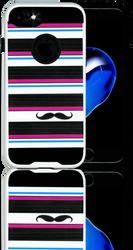 Iphone 7 MM Slim Dura Metal Horizontal Moustache