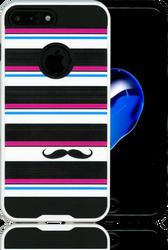 Iphone 7 PLUS MM Slim Dura Metal Horizontal Moustache