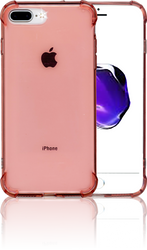 iphone 7 PLUS Clear Case With Air Cushion Hot Pink