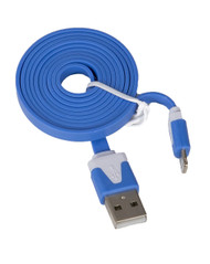 Lightning Flat USB Cable Blue