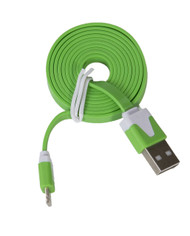 Lightning Flat USB Cable Green