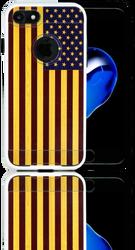 Iphone 7 MM Slim Dura Metal American Flag On Wood