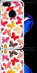 Iphone 7 MM Slim Dura Metal Rainbow Butterfly
