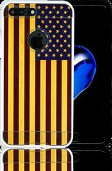 Iphone 7 PLUS MM Slim Dura Metal American Flag On Wood