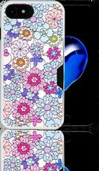 Iphone 7  MM Slim Dura Metal CC Pink Daisies