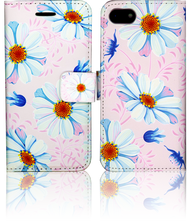 Iphone 7  MM 3D Design Wallet Pink Flowers