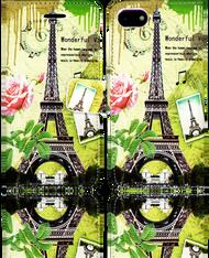 Iphone 7  MM 3D Design Wallet Paris Flowers