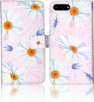 Iphone 7 PLUS  MM 3D Design Wallet Pink Flowers