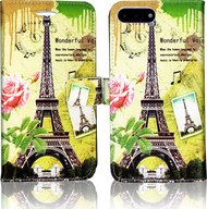 Iphone 7 PLUS  MM 3D Design Wallet Paris Flowers
