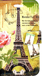 Samsung Galxy ON5 MM 3D Design Wallet Paris Flowers