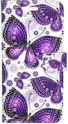 LG Stylo2 PLUS  MM 3D Design Wallet Purple Butterflies