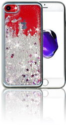 Iphone 7 MM Electroplated Glitter Case With Stars Silver