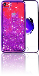 Iphone 7 MM Electroplated Glitter Case With Stars Purple