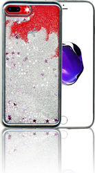 Iphone 7 PLUS/8 PLUS MM Electroplated Glitter Case With Stars Silver