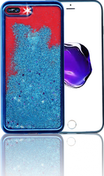Iphone 7 PLUS MM Electroplated Glitter Case With Stars Blue