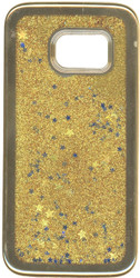 Samsung Galaxy S7 MM Electroplated Glitter Case With Stars Gold