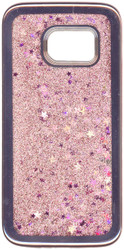 Samsung Galaxy S7 MM Electroplated Glitter Case With Stars Rose Gold