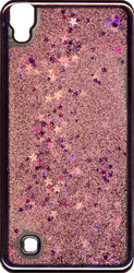 LG XPower MM Electroplated Glitter Case With Stars Rose Gold
