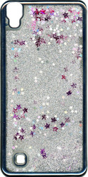 LG XPower MM Electroplated Glitter Case With Stars Silver