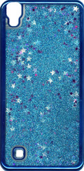 LG XPower MM Electroplated Glitter Case With Stars Blue