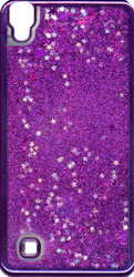 LG XPower MM Electroplated Glitter Case With Stars Purple