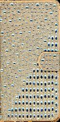ZTE Warp 7 MM Jewel Diagonal Wallet Gold