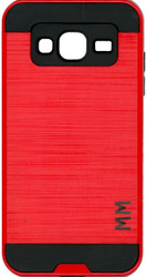Samsung Galaxy J3 MM Slim Dura Metal Finish Red