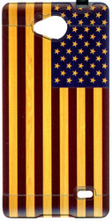 ZTE Tempo  MM Slim Dura Metal American Flag On Wood