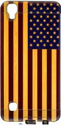 LG Tribute HD MM Slim Dura Metal American Flag On Wood