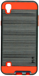 LG TRIBUTE HD MM Slim Dura Metal Finish Grey&Orange