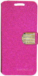HTC Desire 530 Glitter Bling Wallet Pink
