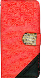 HTC Desire 530 Design Wallet With Bling Red