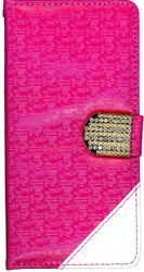 HTC Desire 530 Design Wallet With Bling Pink