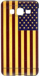 Samsung Galaxy ON5 MM Slim Dura Metal American Flag On Wood