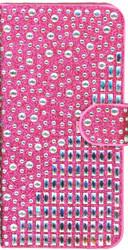 LG Aristo  MM Jewel Diagonal Wallet Hot Pink