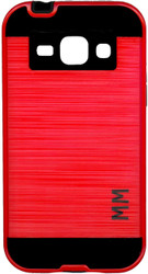 Samsung Galaxy J1(2015) MM Slim Dura Metal Finish Red