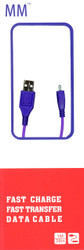 Micro Round USB Cable Purple (Retail Packaged)