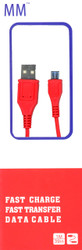 Micro Round USB Cable Red (Retail Packaged)