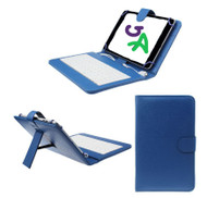 7 inch Universal Leather Case with Micro USB Keyboard For Tablet PC  Blue