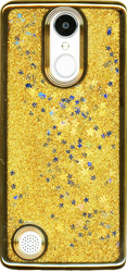 LG Aristo MM Electroplated Glitter Case With Stars Gold