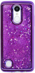 LG Aristo MM Electroplated Glitter Case With Stars Purple