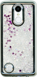 LG Aristo MM Electroplated Glitter Case With Stars Silver