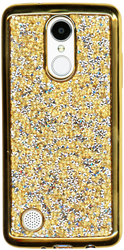 LG Aristo MM Candy Bling Case Gold