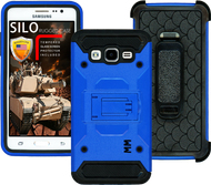 Samsung Glaxy ON5 MM Silo Rugged Case Blue(Tempered Glass Included)