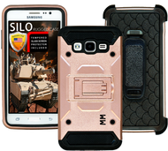 Samsung Glaxy ON5 MM Silo Rugged Case Rose Gold(Tempered Glass Included)