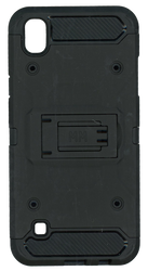 LG Tribute HD MM Silo Rugged Case Black(Tempered Glass Included)
