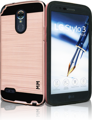 LG Stylo 3 MM Slim Dura Metal Rose Gold
