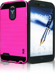 LG Stylo 3 MM Slim Dura Metal Hot Pink