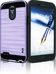 LG Stylo 3 MM Slim Dura Metal Purple